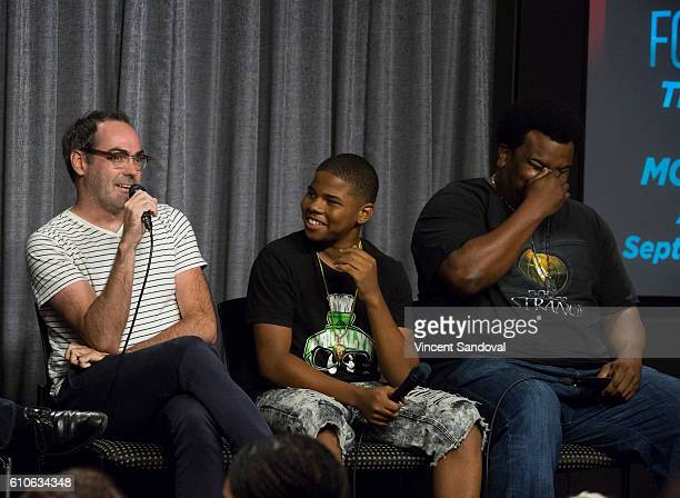Director Chad Hartigan and actors Markees Christmas and Craig Robinson attend SAGAFTRA Foundation Conversations with 'Morris From America' at...