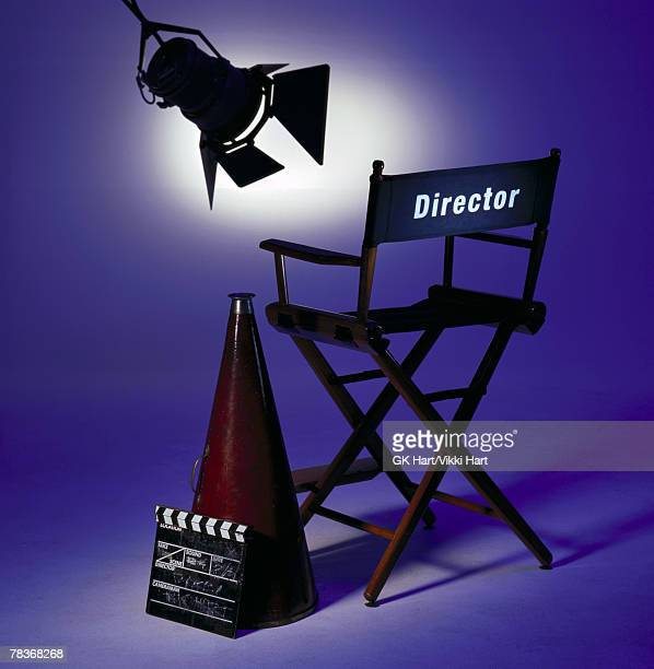 Director chair on set