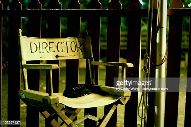 director chair - cadeira de diretor - fotografias e filmes do acervo