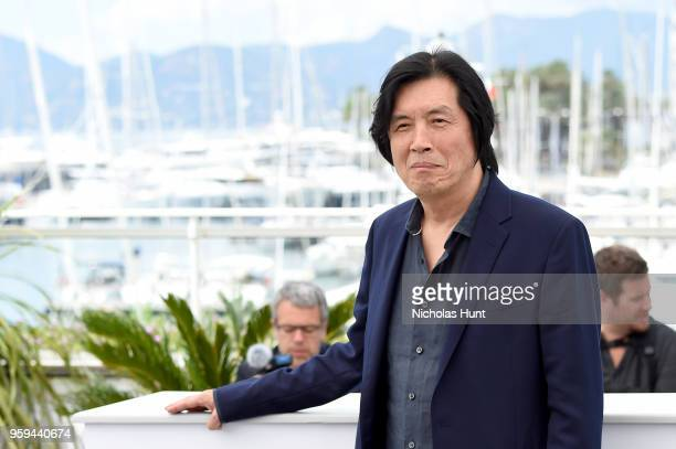 Director Changdong Lee attends 'Burning' Photocall during the 71st annual Cannes Film Festival at Palais des Festivals on May 17 2018 in Cannes France