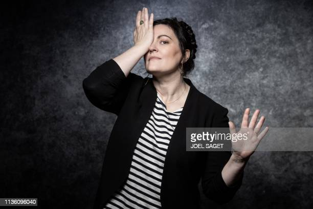 TOPSHOT US director Channing Powell poses for a photo session during the 2nd edition of the Cannes International Series Festival on April 10 2019 in...