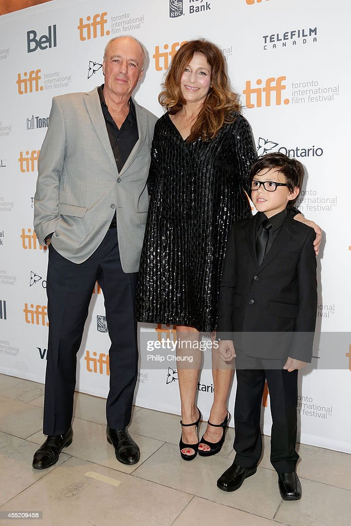 Director Charles Biname and actors Catherine Keener and Ethan Bolduc attend the 'Elephant Song' premiere during the 2014 Toronto International Film Festival at Isabel Bader Theatre on September 10, 2014 in Toronto, Canada.