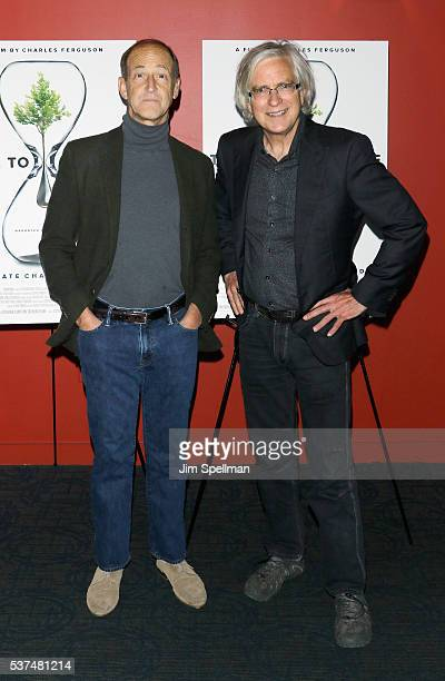 Director Charles Ferguson and producer Tom Dinwoodie attend the 'Time To Choose' New York screening at Landmark's Sunshine Cinema on June 1 2016 in...
