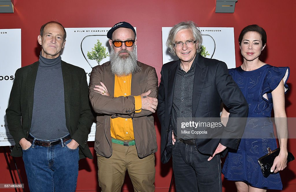 Director Charles Ferguson, Michael Stipe, guest and Audrey Marrs attend the 'Time To Choose' New York screening at Landmark's Sunshine Cinema on June 1, 2016 in New York City.