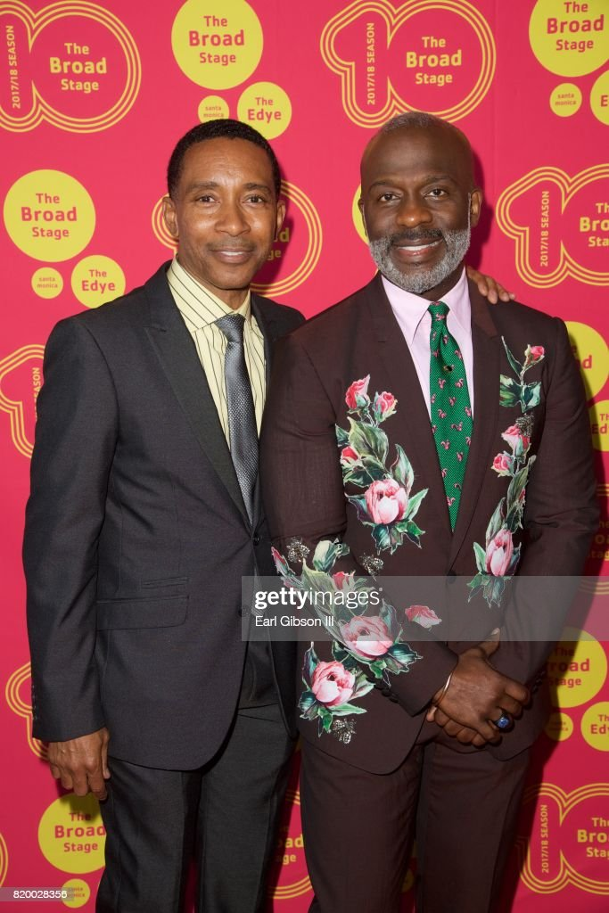 Director Charles Randolph-Wright and singer BeBe Winans attend the Opening Night Of 'Born For This' at The Broad Stage on July 20, 2017 in Santa Monica, California.