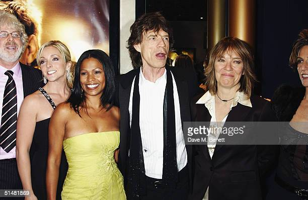 Director Charles Shyer actress Jane Krakowski actress Nia Long singer Mick Jagger and guest arrive at the World Premiere of Alfie at the Empire...