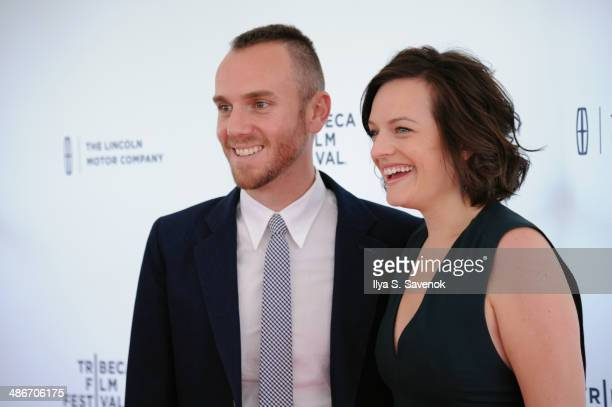 Director Charlie McDowell and Actress Elisabeth Moss attend the The One I Love Premiere during the 2014 Tribeca Film Festival at the SVA Theater on...