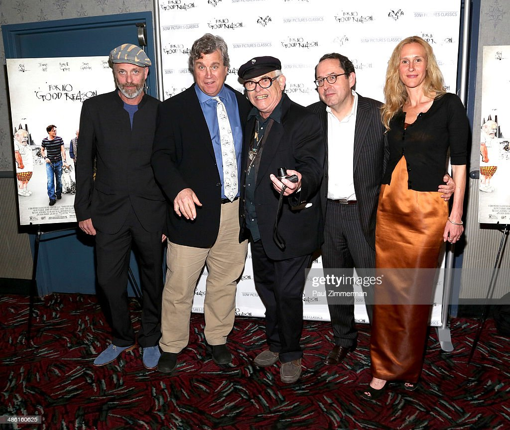 Director Charlie Paul, Sony Pictures Classics co-president Tom Bernard, Ralph Steadman, Sony Pictures Classics co-president Michael Barker, and producer Lucy Paul attend the 'For No Good Reason' screening at AMC Loews 19th Street Theater on April 22, 2014 in New York City.