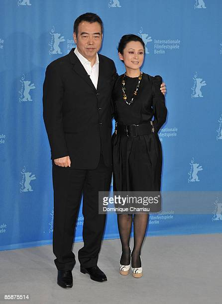 Director Chen Kaige and actress Chen Hong attend the Forever Enthralled photocall during the 59th Berlin International Film Festival at the Grand...