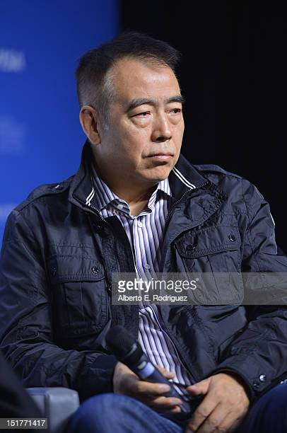 """Director Chen Kaige speaks onstage at the """"Caught In The Web"""" Press Conference during the 2012 Toronto International Film Festival at TIFF Bell..."""