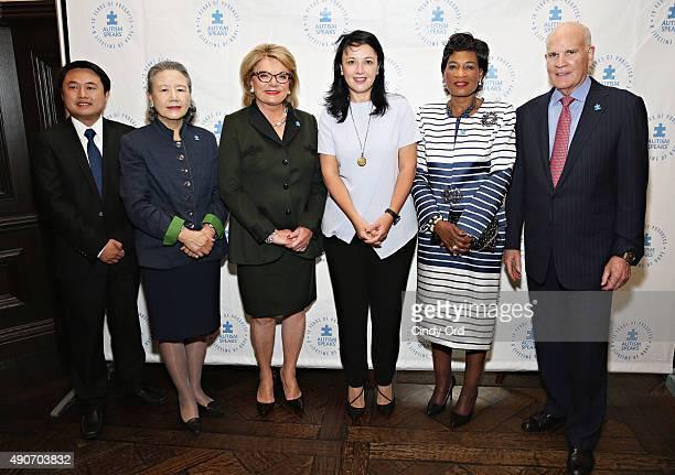 Director, China Women's Development Foundation, Hailiang Guo, Spouse of U.N. Secretary General Ban Ki-moon, Ban Soon-taek, Co-Founder of Autism...