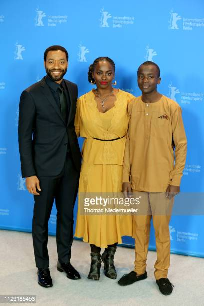Director Chiwetel Ejiofor Aissa Maiga and Maxwell Simba pose at the photocall for the Netflix film 'The Boy Who Harnessed The Wind' during the 69th...