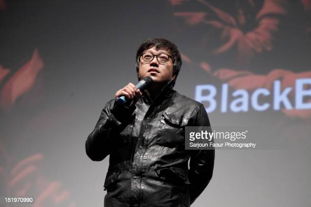 Director Choi Donghoon attends The Thieves premiere during the 2012 Toronto International Film Festival at the Ryerson Theatre on September 13 2012...