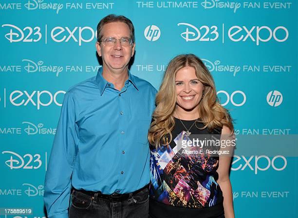 Director Chris Buck and director Jennifer Lee of Frozen attend Art and Imagination Animation at The Walt Disney Studios presentation at Disney's D23...