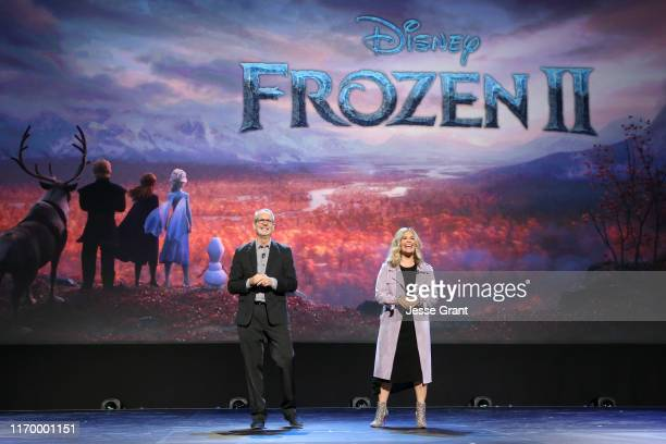Director Chris Buck and Director/writer/Walt Disney Animation Studios CCO Jennifer Lee of 'Frozen 2' took part today in the Walt Disney Studios...
