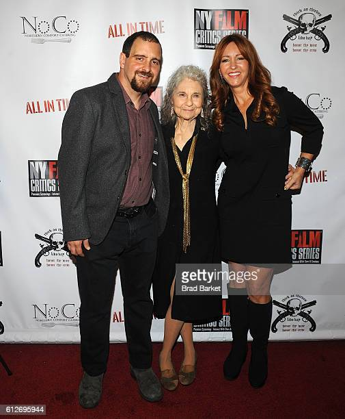Director Chris Fetchko Lynn Cohen and Marina Donahue attend the All In Time New York Film Critics Screening at AMC Empire 25 theater on October 4...
