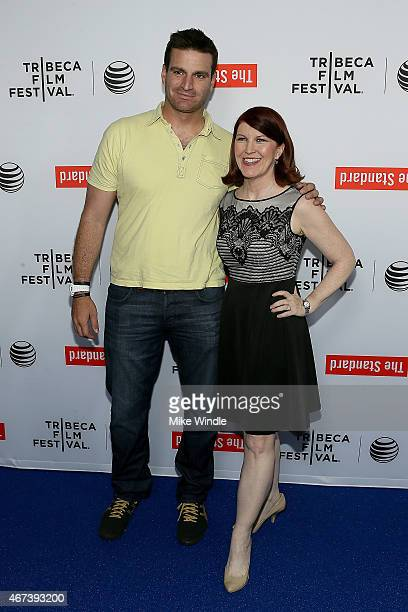 Director Chris Modoono and actress Kate Flannery attend the 2015 Tribeca Film Festival LA Kickoff Reception at The Standard Hollywood on March 23...