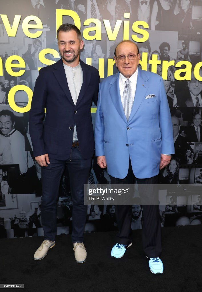Director Chris Perkel and Clive Davis arrive for the Clive Davis: 'Soundtrack Of Our Lives' special screening at The Curzon Mayfair on September 5, 2017 in London, England.