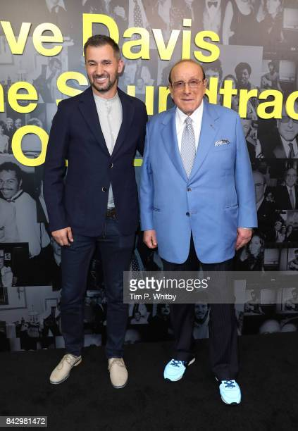 Director Chris Perkel and Clive Davis arrive for the Clive Davis 'Soundtrack Of Our Lives' special screening at The Curzon Mayfair on September 5...