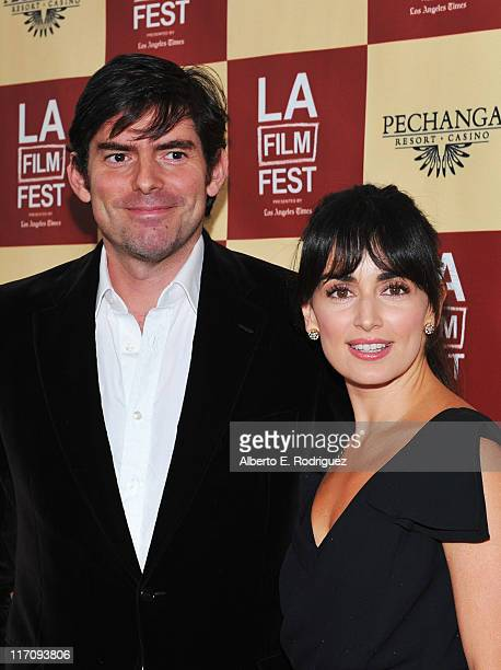 Director Chris Weitz and actress Ana de la Reguera arrive at A Better Life World Premiere Gala Screening during the 2011 Los Angeles Film Festival at...