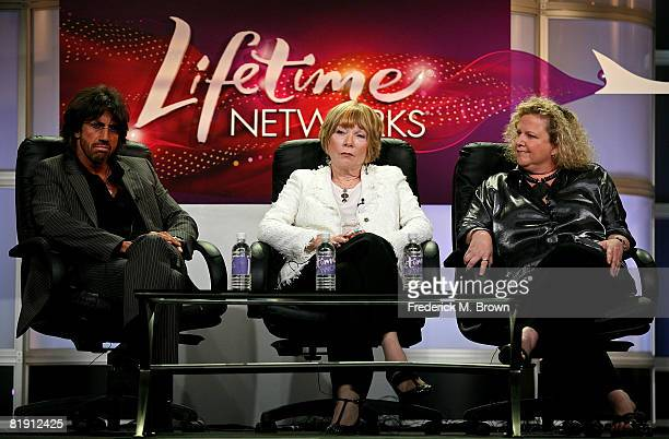 Director Christian Duguay actress Shirley MaClaine and executive producer Carrie Stein of Coco Chanel speak during day four of the Lifetime Channel...