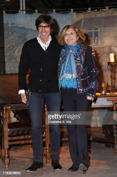 Director Christian Duguay and producer Matilde Bernabei attend the photocall of the tv movie I Medici Nel Nome Della Famiglia on November 29 2019 in...