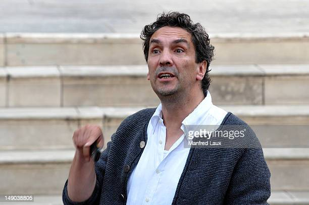 Director Christian Stueckl is seen during the photo rehearsal of 'Jedermann' on the Domplatz ahead of Salzburg Festival 2012 on July 19 2012 in...