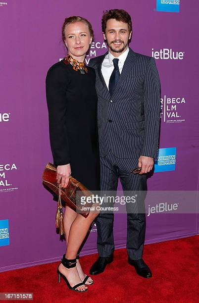 Director Christina Voros and actor/producer James Franco attend The Director World Premiere during the 2013 Tribeca Film Festival on April 21 2013 in...