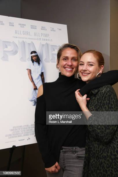 Director Christine Crokos and Actress Haley Ramm attend NAACP Image Awards Screening of 'PIMP' on December 17 2018 in Los Angeles California