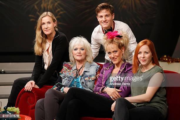 Director Christine Hartmann actors Gaby Koester Moritz Baeckerling Anna Schudt and Jasmin Schwiers attend the 'Ein Schnupfen haette auch gereicht' on...