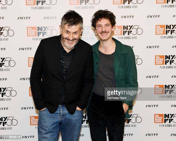 Director Christophe Honoré and Actor Vincent Lacoste attends photocall for Sorry Angel at the 56th New York Film Festival at Alice Tully Hall Lincoln...