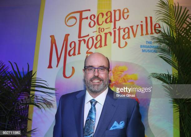 Director Christopher Ashley poses at the Opening Night of The Jimmy Buffett Musical 'Escape To Margaritaville' on Broadway at The Marquis Theatre on...