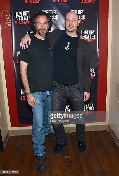 Director Christopher Carter Sanderson and executive producer David F. Schwartz pose for a picture before the Off-Broadway opening night of Tucker...