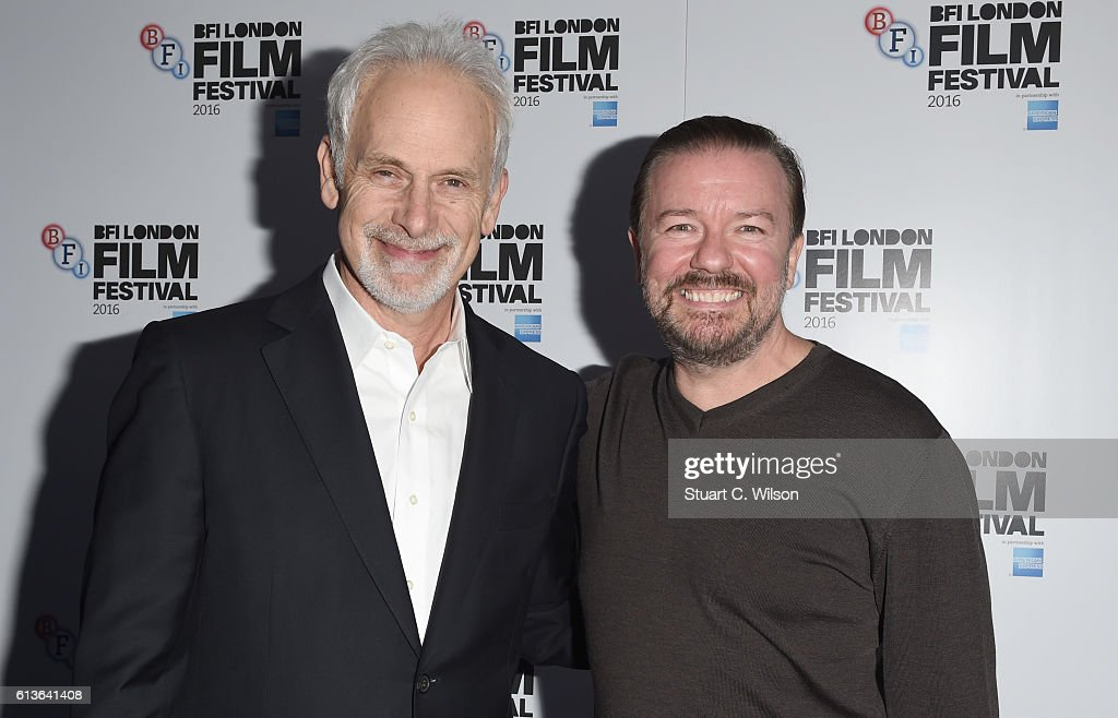 Director Christopher Guest and Actor Ricky Gervais attend the Mascots screening during the 60th BFI London Film Festival at Picturehouse Central on October 9, 2016 in London, England.