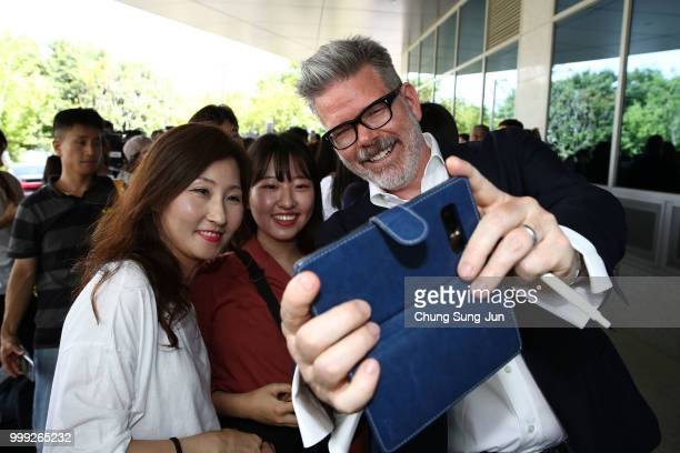 Director Christopher McQuarrie arrives in support of the 'Mission Impossible Fallout' World Press Tour at Gimpo Airport on July 15 2018 in Seoul