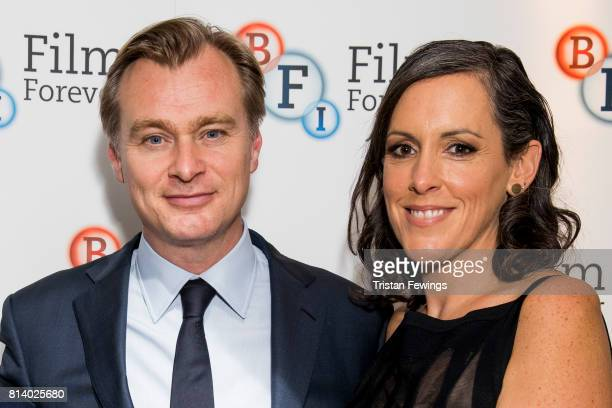 Director Christopher Nolan and Emma Thomas attend a QA promoting his new film Dunkirk at BFI Southbank on July 13 2017 in London England