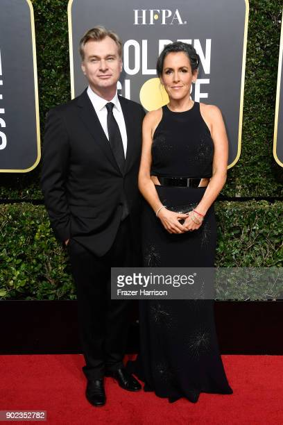 Director Christopher Nolan and producer Emma Thomas attend The 75th Annual Golden Globe Awards at The Beverly Hilton Hotel on January 7 2018 in...