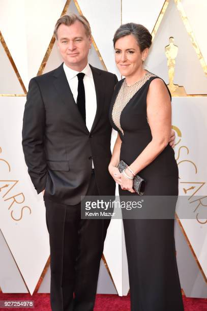 Director Christopher Nolan and producer Emma Thomas attend the 90th Annual Academy Awards at Hollywood Highland Center on March 4 2018 in Hollywood...
