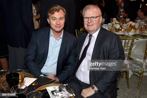 Director Christopher Nolan and Sir Howard Stringer attend the AFI 50th Anniversary Gala at The Library of Congress on November 1 2017 in Washington DC