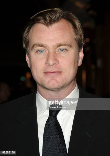Director Christopher Nolan arrives at the 62nd Annual Directors Guild Of America Awards at the Hyatt Regency Century Plaza on January 30 2010 in...