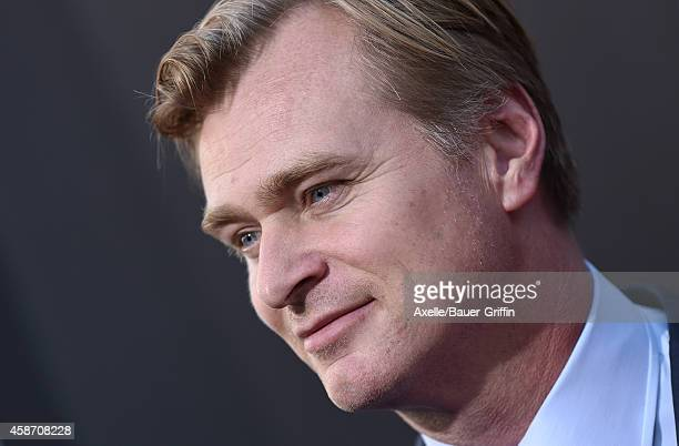 Director Christopher Nolan arrives at the Los Angeles Premiere of 'Interstellar' at TCL Chinese Theatre IMAX on October 26 2014 in Hollywood...