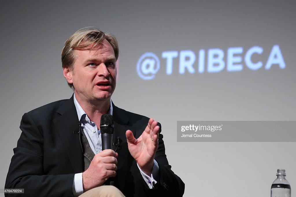 Tribeca Talks: Director Series: Christopher Nolan With Bennett Miller - 2015 Tribeca Film Festival : News Photo