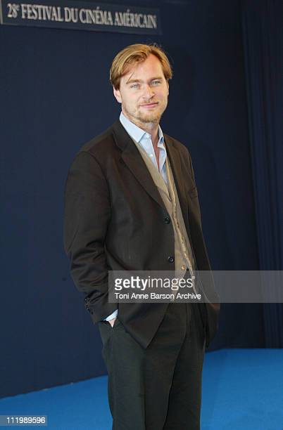 Director Christopher Nolan during Deauville 2002 'Insomnia' Photocall at CID Centre International de Deauville in Deauville France
