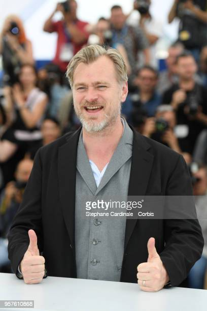Director Christopher Nolan makes a thumbs up sign as he attends the Rendezvous With Christopher Nolan photocall during the 71st annual Cannes Film...