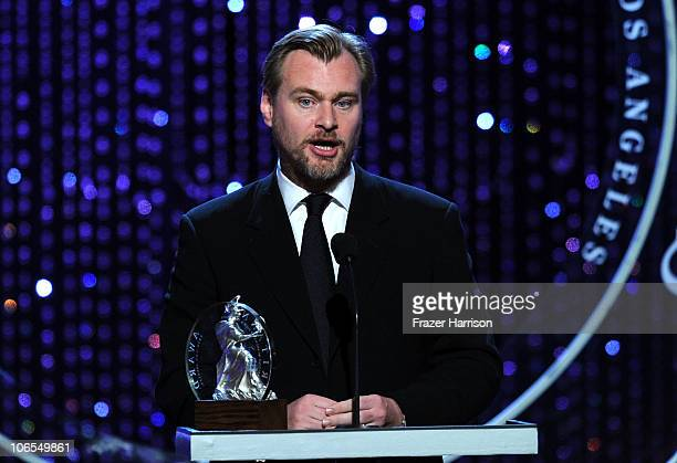 Director Christopher Nolan onstage during the BAFTA Los Angeles 2010 Britannia Awards held at the Hyatt Regency Century Plaza on November 4 2010 in...