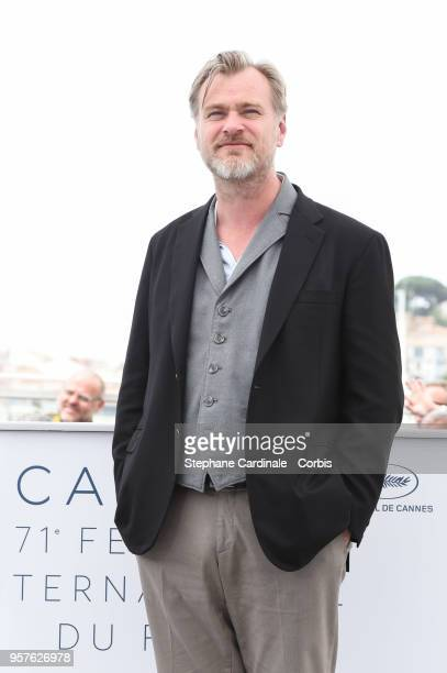 Director Christopher Nolan speaks at the Rendez-Vous session during the 71st annual Cannes Film Festival at Palais des Festivals on May 12, 2018 in...