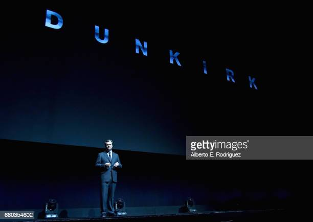 """Director Christopher Nolan speaks onstage at CinemaCon 2017 Warner Bros Pictures Invites You to """"The Big Picture"""" an Exclusive Presentation of our..."""
