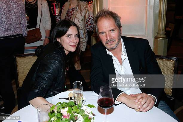 Director Christopher Thompson with his wife actress Geraldine Pailhas attend the dinner following the 'Empires' exhibition of Huang Yong Ping as part...