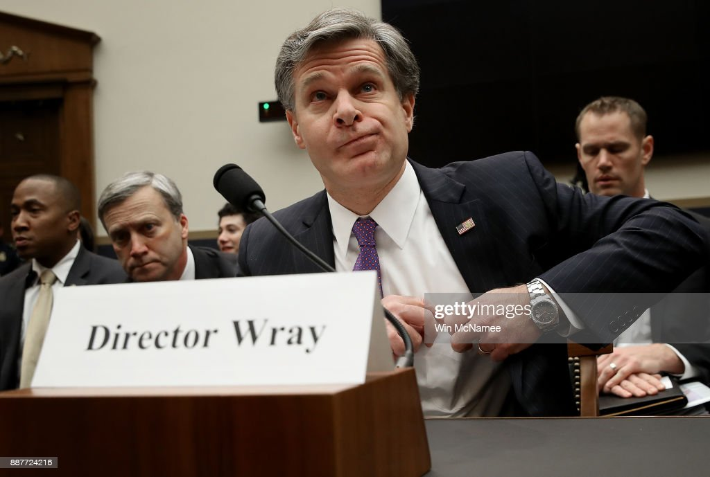 Director Christopher Wray appears before the House Judiciary Committee December 7, 2017 in Washington, DC. The committee hearing focused on oversight of the Federal Bureau of Investigation.