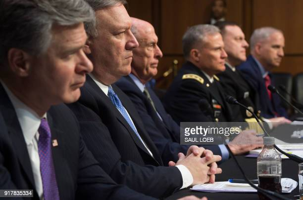 FBI Director Christopher Wray CIA Director Mike Pompeo Director of National Intelligence Dan Coats Defense Intelligence Agency Director Robert Ashley...